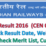 RRB NTPC Results 2016 Released – 1st Stage CBT Railway Non Technical Graduate (CEN 03/2015) Result, Merit List & Cut off Marks for All Regions