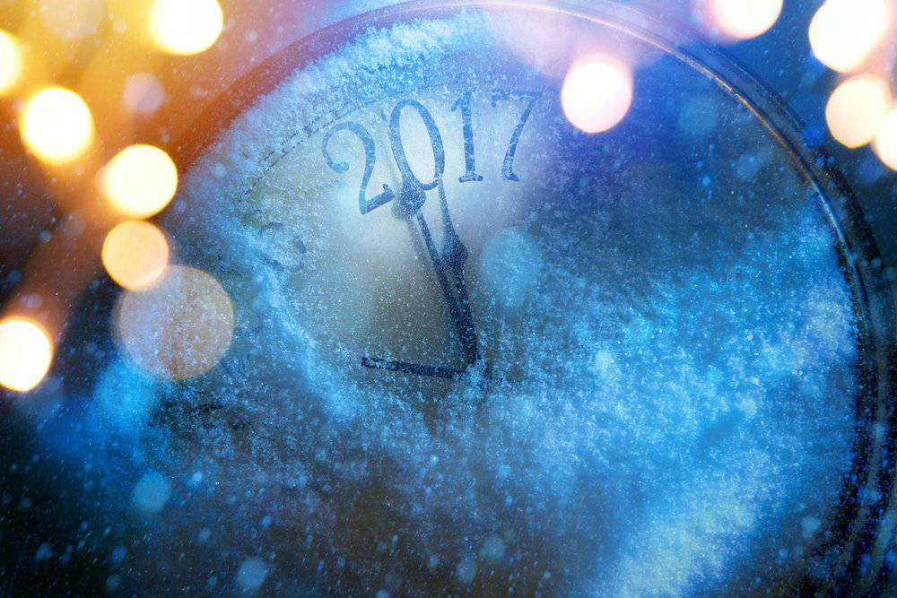 Happy New Year 2017 clock images