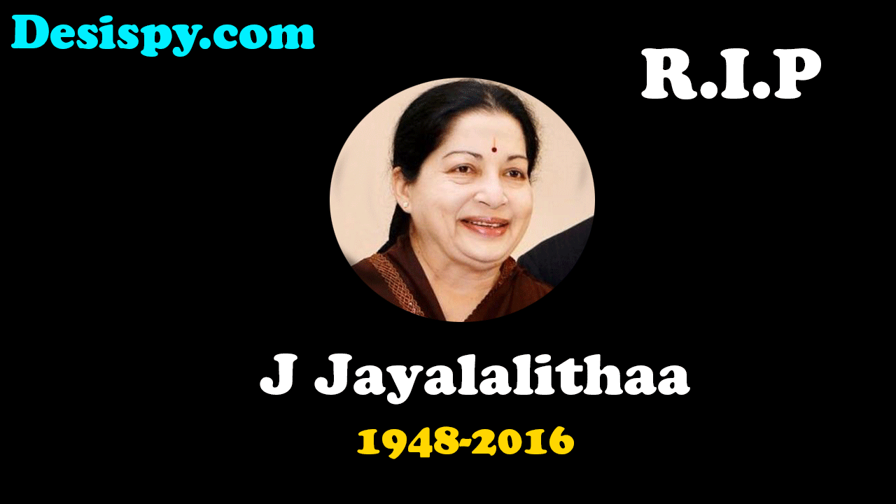 Jayalalitha Passed away