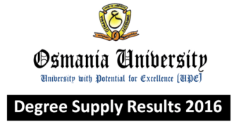 OU Degree Supply Results 2016 Announced for BA B.Sc B.Com All years @manabadi