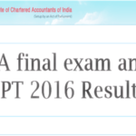 CA Final Exam Results Nov 2016 Declared – Check CPT Result, Merit List @ icai.nic.in