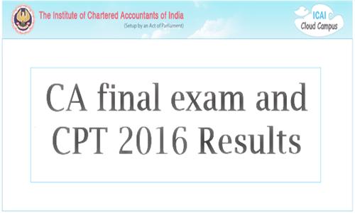 CA Final Exam Results 2016