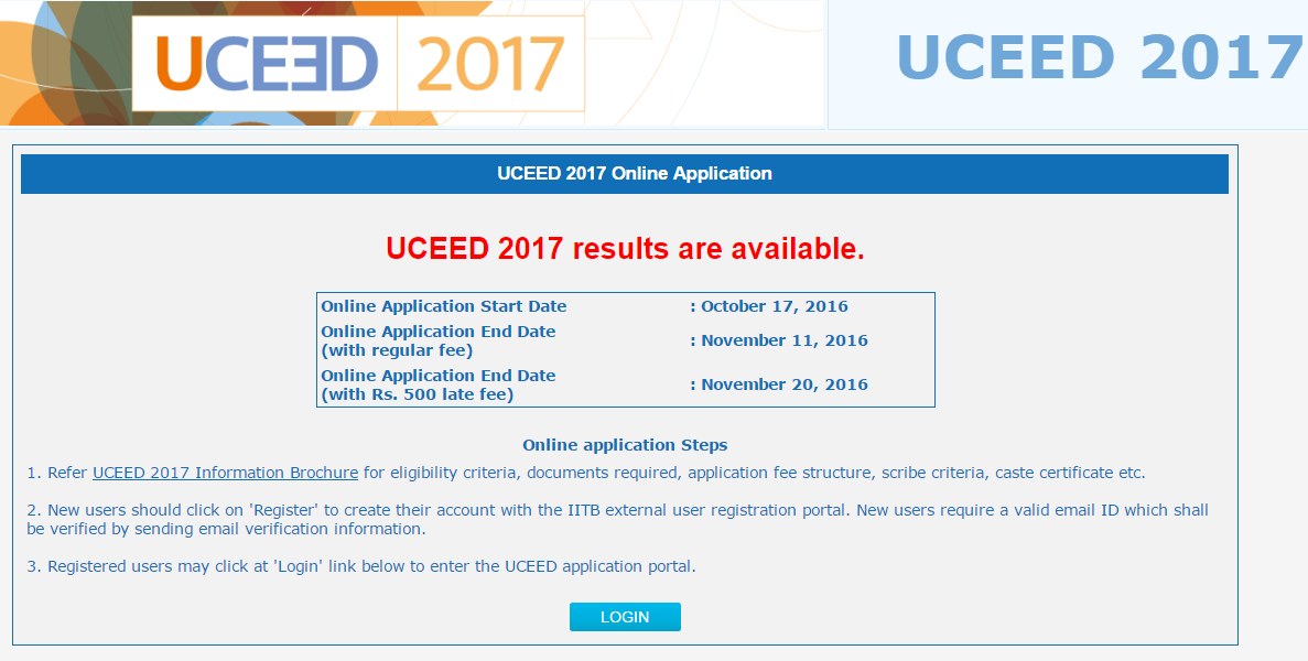 UCEED 2017 results