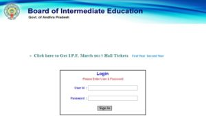 AP Intermediate 1st & 2nd Year Hall Tickets 2017 Download @ bieap.cgg.gov.in, Manabadi