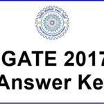 GATE 2017 Final Answer Key Released – Check Branch wise All Papers Key @ gate.iitr.ernet.in