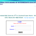 Telangana TS Inter 1st & 2nd Year Hall Tickets 2017 Download @ bietelangana.cgg.gov.in, Manabadi