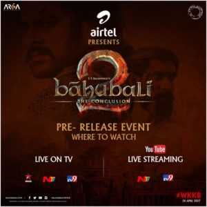 Baahubali 2 Pre Release Event Live – Watch Baahubali 2 Audio launch Function 360 degree, Full Songs Jukebox