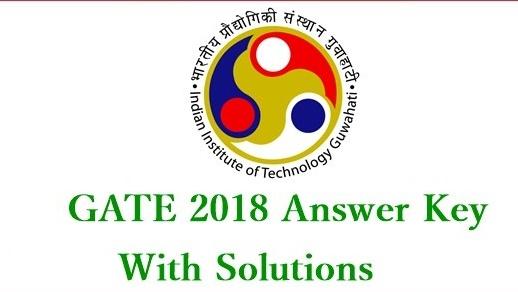 GATE Answer key 2018 download