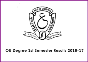 OU Degree 1st Year 1st Semester Results 2017