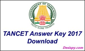 TANCET Answer Key 2017 – Download for MBA, MCA, MTech Question Papers, Cutoff Marks, Solutions