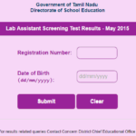 Tamilnadu Lab Assistant Results 2015 Released – Check TNDGE Screening Test Result, Cutoff, Merit List @ dge1.tn.nic.in, dge2.tn.nic.in