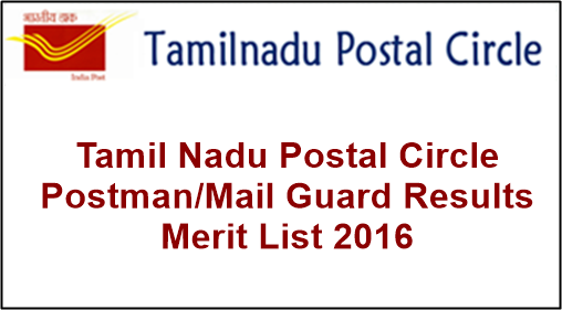 Tamil Nadu Postal Circle Postman-Mail Guard Results