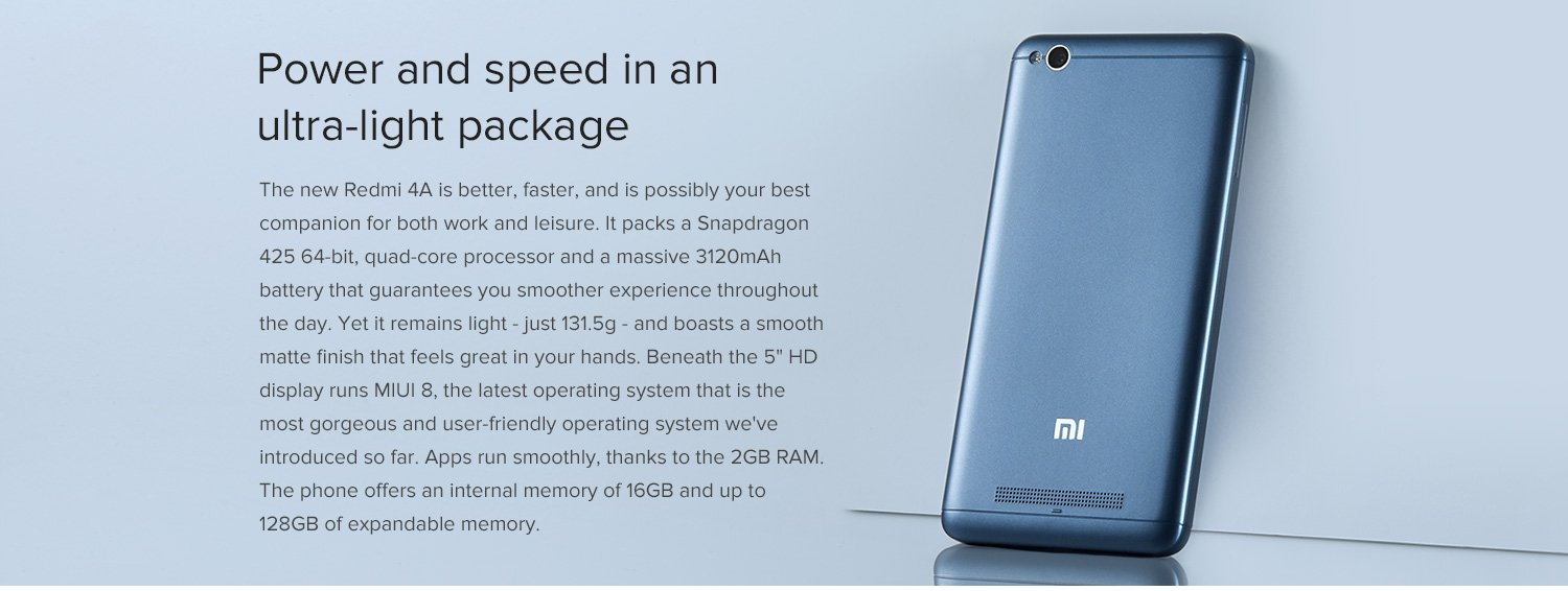 Xiaomi Redmi 4a 5999 Sale Today On Amazoncom Micom At 12 Pm 2 16gb Features Specifications