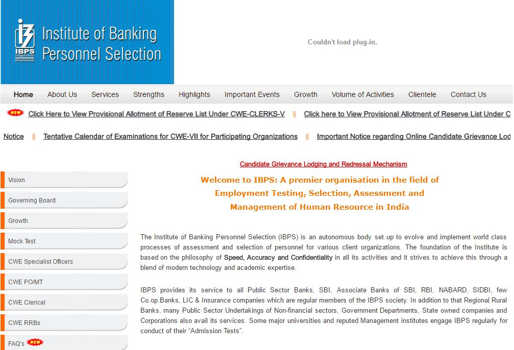 ibps cwe Reserve List