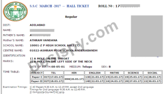 TS SSC Hall Tickets 2017 Download (Released) – Telangana 10th Class Halltickets @ bse.telangana.gov.in, manabadi