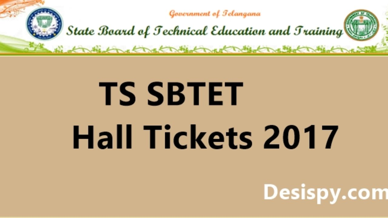 TS SBTET Hall Tickets 2017 - Download For C16, C14, C09