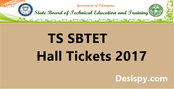 TS SBTET Hall Tickets 2017