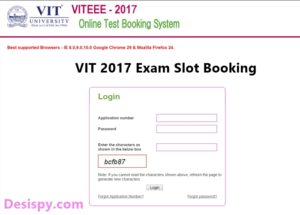 VIT VITEEE Slot Booking and Time – Admit Card/ Hall ticket Download @ vit.ac.in