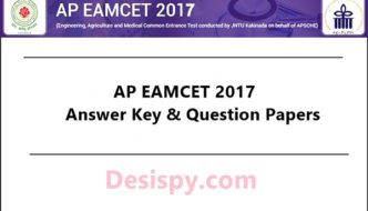 AP EAMCET Answer Key 2017 For 24th April Exam – Download Question Papers, Solutions @ sche.ap.gov.in