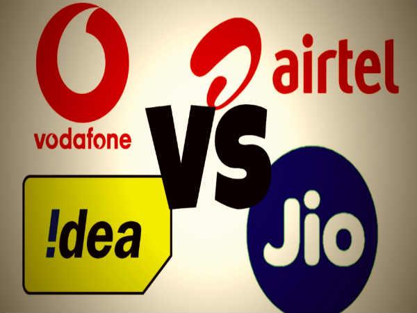 Airtel, Vodafone, Idea, Reliance Jio 4G data war