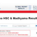 Odisha HSC Results 2018 – Check Odisha 10th (Matric) & Madhyama Result Name Wise @ Orissaresults.nic.in