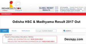 Odisha HSC Results 2018 – Check Odisha 10th (Matric) & Madhyama Result Name Wise @ Orissaresults.nic.in