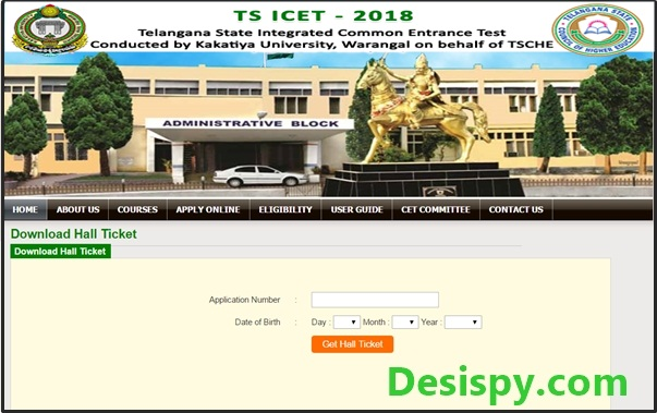 TS ICET Hall Tickets 2018