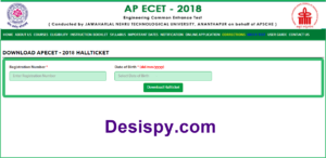 AP ECET 2018 Hall Tickets – Download Admit Cards Here @ sche.ap.gov.in