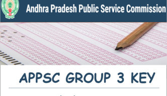 APPSC Group 3 Screening Test Answer Key 2017 Download (Official) – AP Panchayat Secretary Key PDF With Q.P @ psc.ap.gov.in