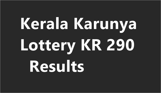 Karunya Lottery KR 290 Results
