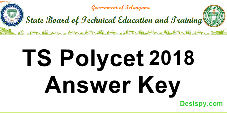 TS POLYCET 2018 Answer Key For SET A, B, C, D (Available) - Download