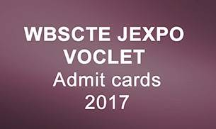 WBSCTE JEXPO and VOCLET Admit Card
