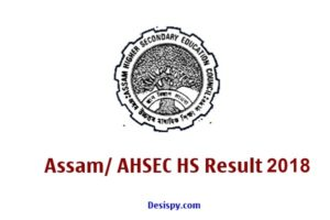 Assam HS Results 2018 – Check AHSEC 12th Arts Science Commerce Results Name wise @