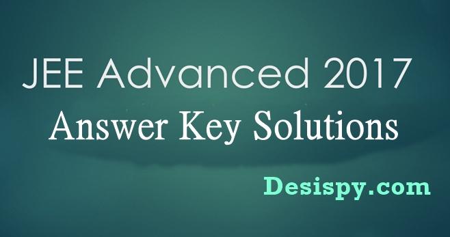 JEE Advanced Answer Key 2017