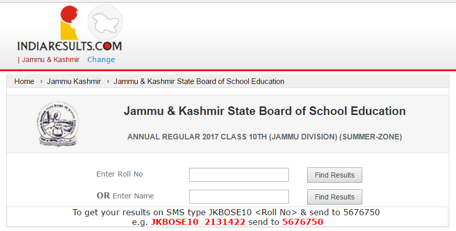 JKBOSE 10th Result 2017 Released - Check Jammu & Kashmir Annual
