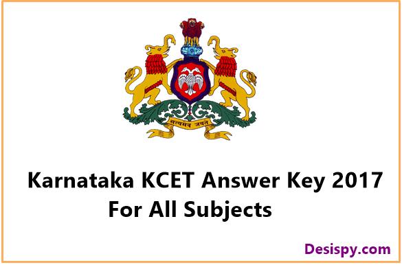 KCET Answer Key 2017