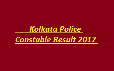 Kolkata-Police-Constable-Result-2017 MERIT LIST