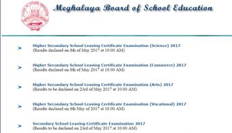 MBOSE HSSLC Arts Results 2017 Declared @ Megresults.nic.in – Meghalaya Board 12th Class Result