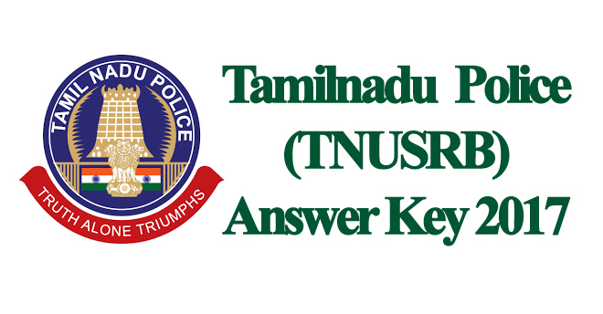 TNUSRB Police Answer Key 2017