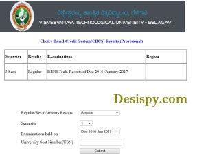 Results.vtu.ac.in – VTU 3rd Sem (CBCS) Results 2017 (B.E/B.Tech) Declared For Regular Dec/Jan 2017