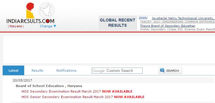 HOS 10th & 12th Result 2017 Declared - Check Haryana Open School