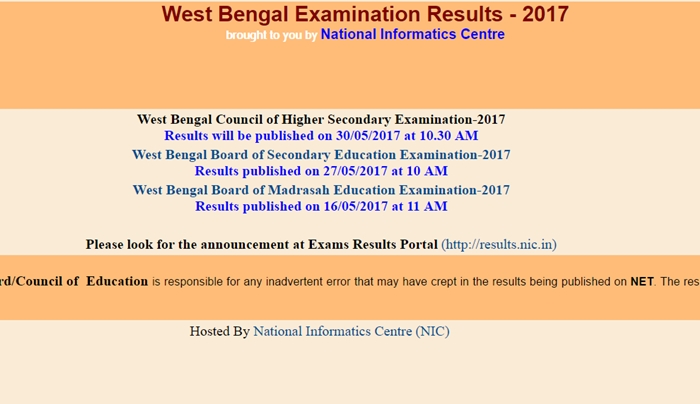 West Bengal WB HS Result 2017