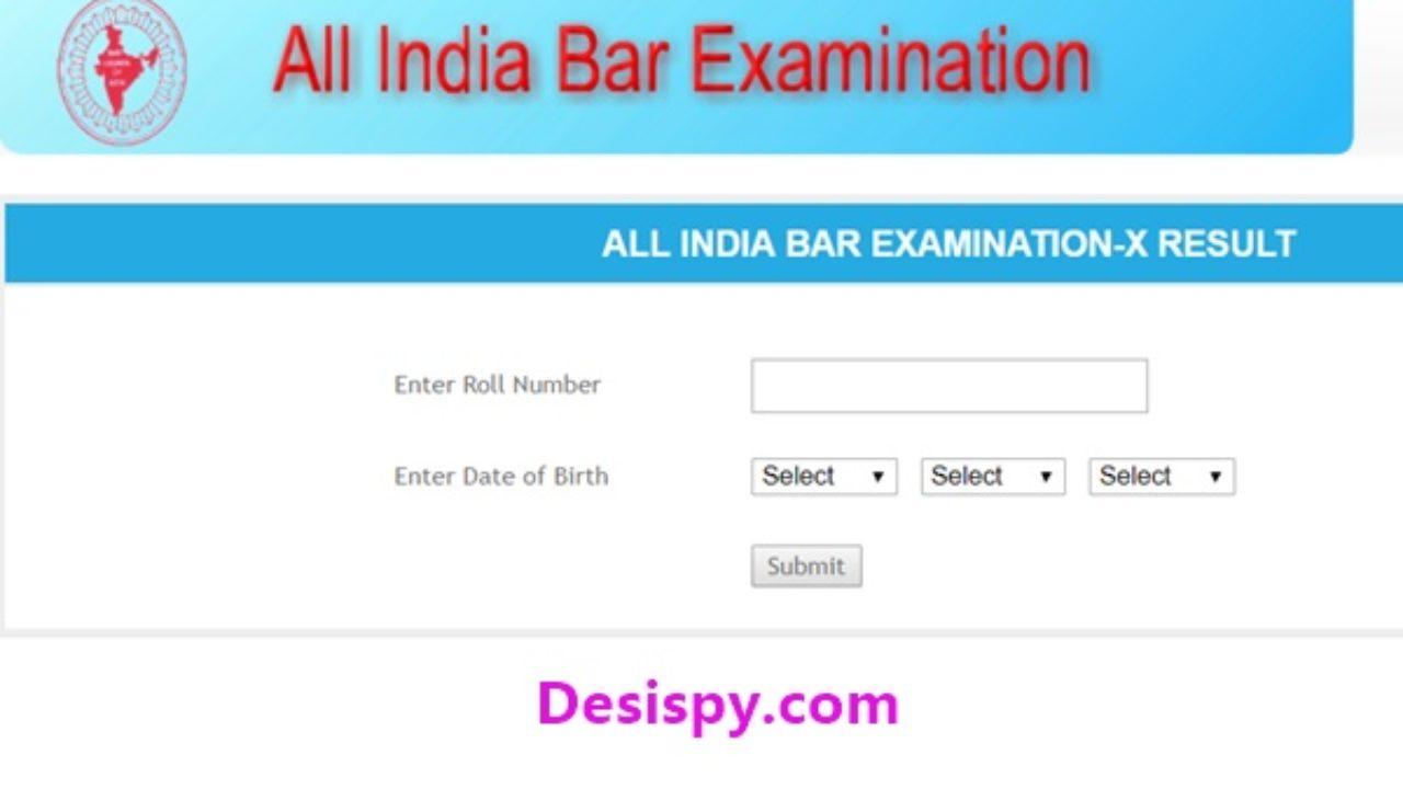 AIBE X Result 2017 Released @ allindiabarexamination com - Check All