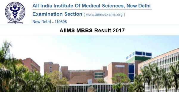 AIIMS MBBS Result 2017