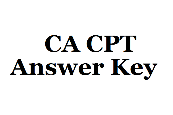 CA CPT Answer Key Released for 18th June Examination