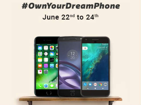 Flipkart Dream Phone sale from 22nd June to 24th June- Buy iPhone 7 at Rs 42,499, Pixel at Rs 39,999, Moto Z at Rs 29,999
