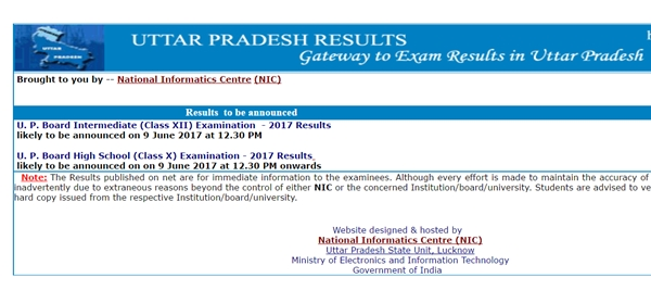 UP Board 10th & 12th Result 2017