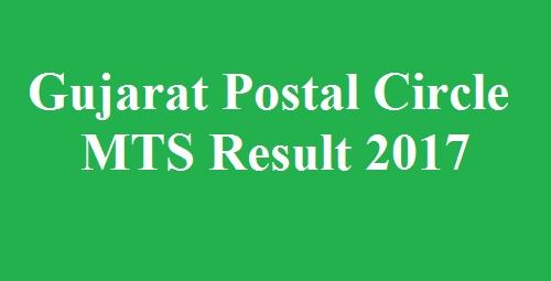 Gujarat Postal Circle MTS Result 2017