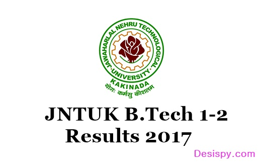 JNTUK B.Tech 1-2 Results 2017