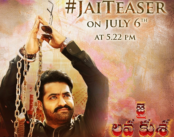 Jr. NTR's 'Jai Lava Kusa' Teaser to be rolled out on 6th July at 5.22 PM